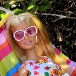Muebles para Barbie: playset hamaca de colores